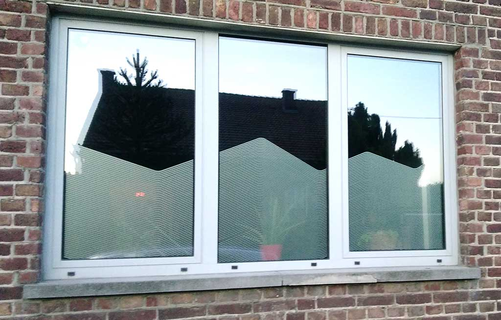 sabl s fen tres pose de vinyls sabl s sur vitres inkonic. Black Bedroom Furniture Sets. Home Design Ideas