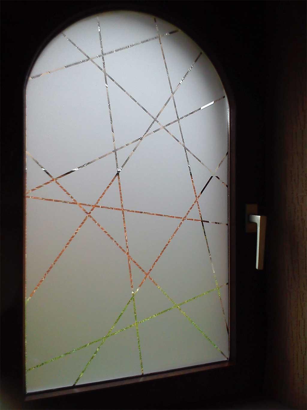 Sabl s fen tres pose de vinyls sabl s sur vitres inkonic for Dimension fenetre toilette